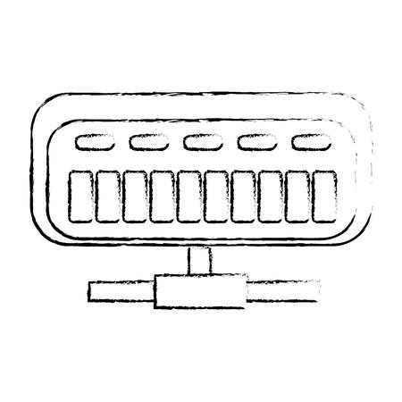 Router netto isolato illustrazione vettoriale illustrazione icona Archivio Fotografico - 86926588