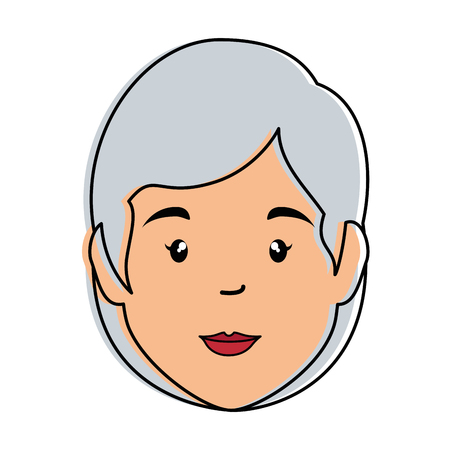 old woman avatar character vector illustration design