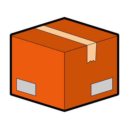 ボックス カートン梱包アイコン ベクトル イラスト デザイン  イラスト・ベクター素材