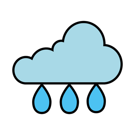 cloud sky with drops vector illustration design Illustration