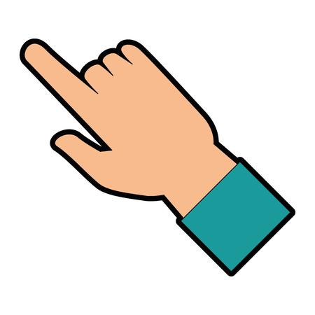 人間の手のアイコン ベクトル イラスト デザインに触れる 写真素材