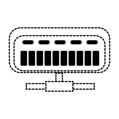 그물 라우터 격리 아이콘 벡터 일러스트 디자인