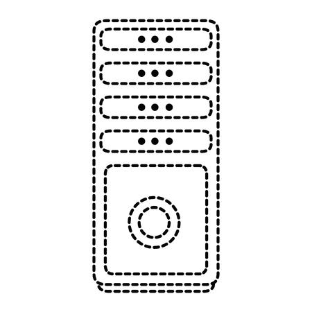 タワー コンピューター アイコン ベクトル イラスト デザインを分離しました。