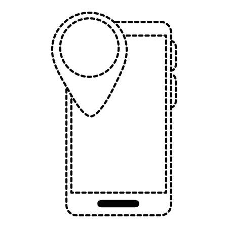 포인터 위치 벡터 일러스트 디자인 스마트 폰 장치