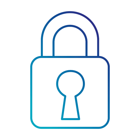 safe padlock isolated icon vector illustration design Stock Vector - 86926767