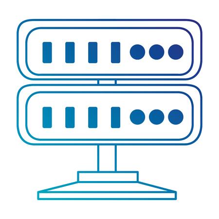 Server-Rechenzentrum-Ikonenvektor-Illustrationsdesign Standard-Bild - 86926774
