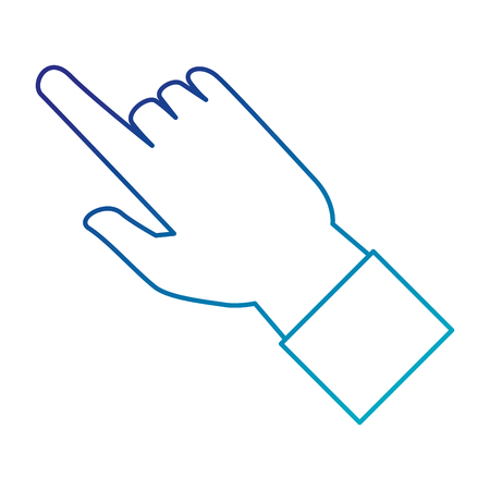 human hand touching icon vector illustration design Фото со стока - 86926783