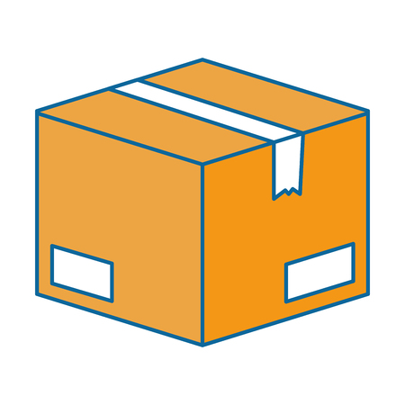 box carton packing icon vector illustration design