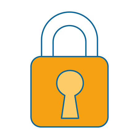 safe padlock isolated icon vector illustration design Illustration