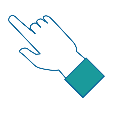 human hand touching icon vector illustration design Фото со стока - 86933815
