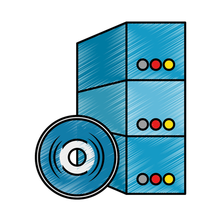 software installation disk and box vector illustration design Stock Photo