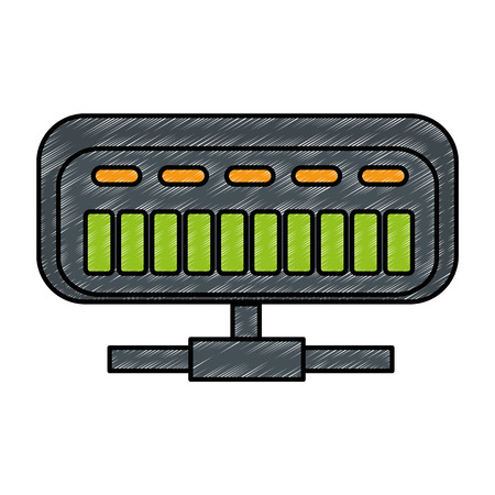 分離されたネットのルーター アイコン ベクトル イラスト デザイン