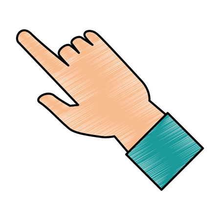 human hand touching icon vector illustration design