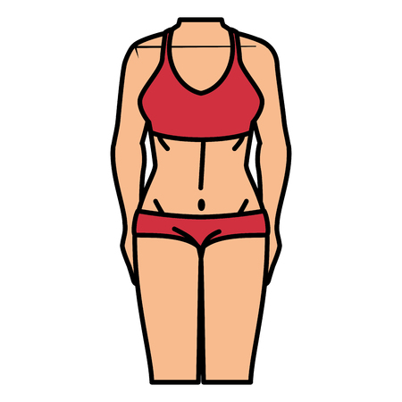 slim woman in a sports suit vector illustration design