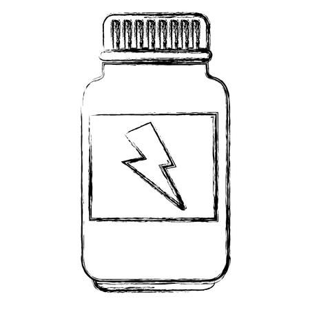 Bottiglia di progettazione dell'illustrazione di vettore della proteina energetica Archivio Fotografico - 86933980