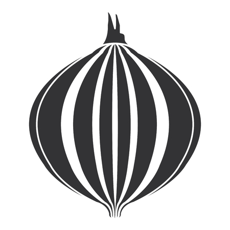 タマネギ新鮮な野菜アイコン ベクトル イラスト デザイン