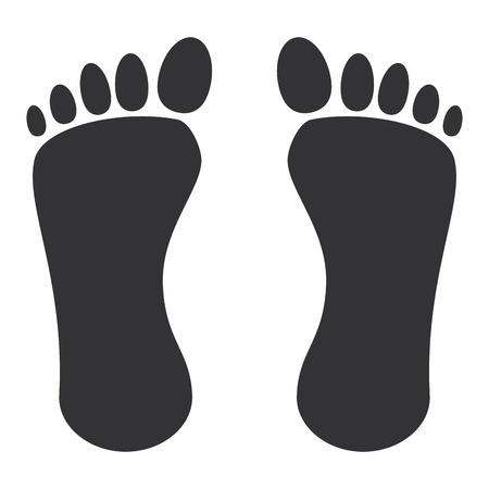 人類の足跡のアイコン ベクトル イラスト デザインを分離しました。