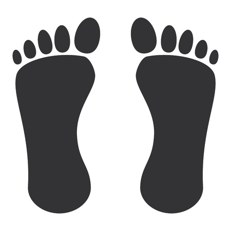 human footprint isolated icon vector illustration design