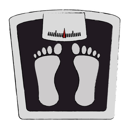 bathroom scale: scale weight measure icon vector illustration design Illustration