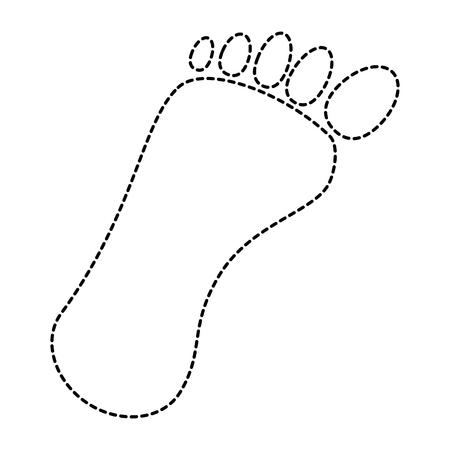 人間の足跡孤立したアイコンのベクトルイラストデザイン