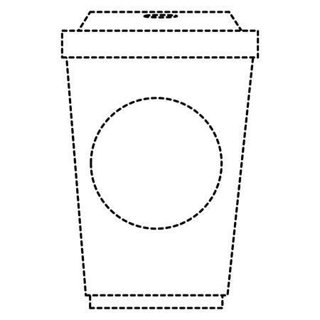 plastic kopje met stro vector illustratie ontwerp
