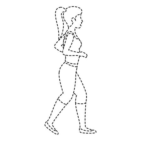 Atleet vrouw doet oefening vector illustratie ontwerp Stock Illustratie