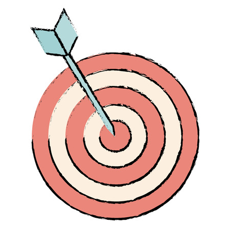 advantages: target with arrow isolated icon vector illustration design Illustration