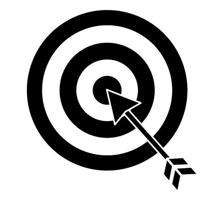 Target with arrow icon Illustration