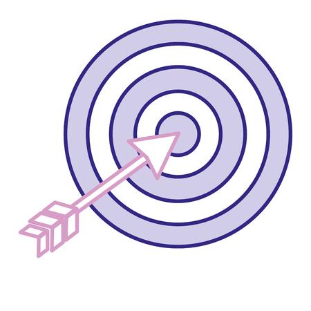 Doel met pijl geïsoleerd pictogram vector illustratie ontwerp