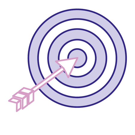 Target with arrow isolated icon vector illustration design