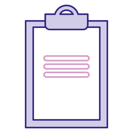 Clipboard document isolated icon vector illustration design Иллюстрация