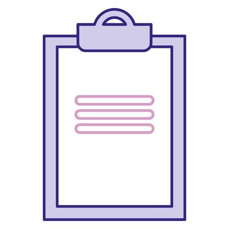 Vector de illustratieontwerp van het klemborddocument geïsoleerd pictogram Stock Illustratie