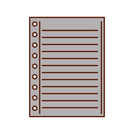 Foderato di carta nota lavagna vuota illustrazione vettoriale scuola Archivio Fotografico - 87170626