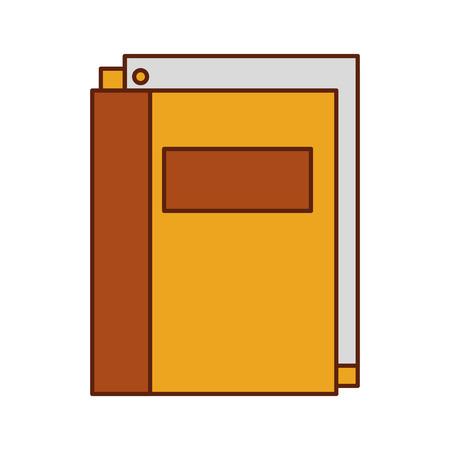 ペーパー文房具供給教育ベクトルイラスト付き学校フォルダ