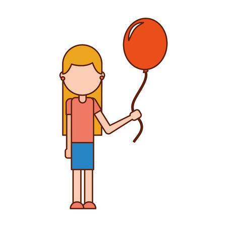 Niña feliz de la escuela con celebración del globo maestro ilustración del vector del día Foto de archivo - 86967215