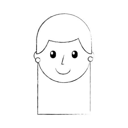 cartoon girl teacher professional character vector illustration Ilustração