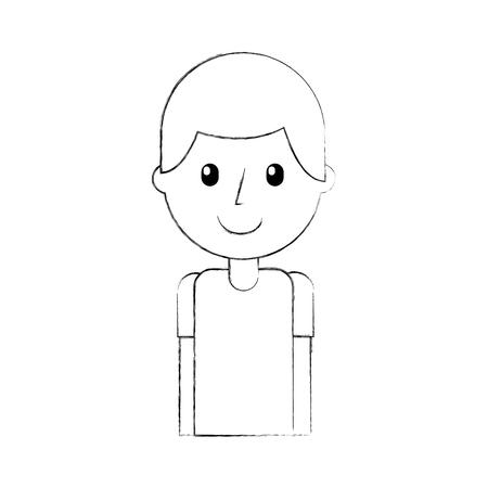 man teacher cartoon education portrait vector illustration