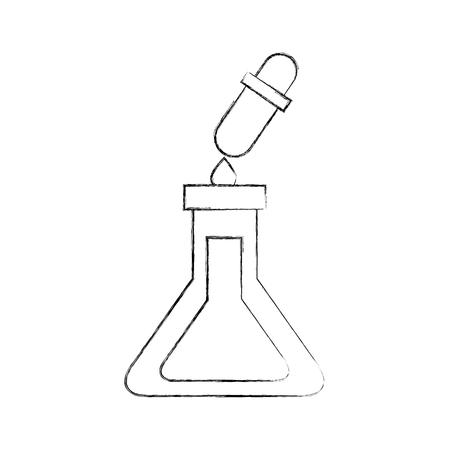 school test tube and dropper liquid science vector illustration Illustration