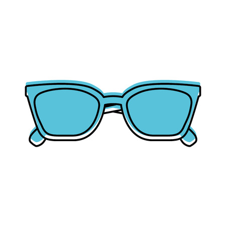 Glasses accessory fashion object element vector illustration