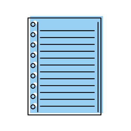 Illustrazione di vettore di scuola spazio in bianco foderato pagina nota Archivio Fotografico - 86934227