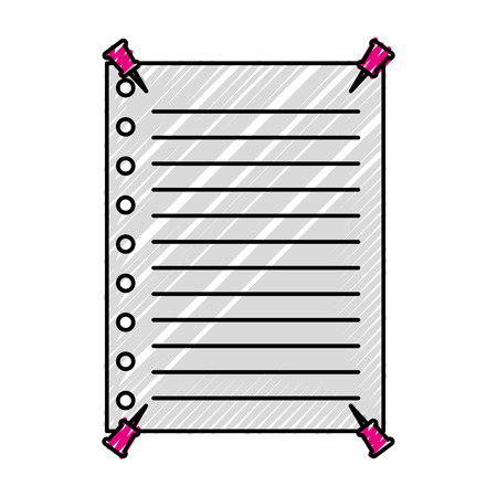 teacher day celebration paper with push pin vector illustration