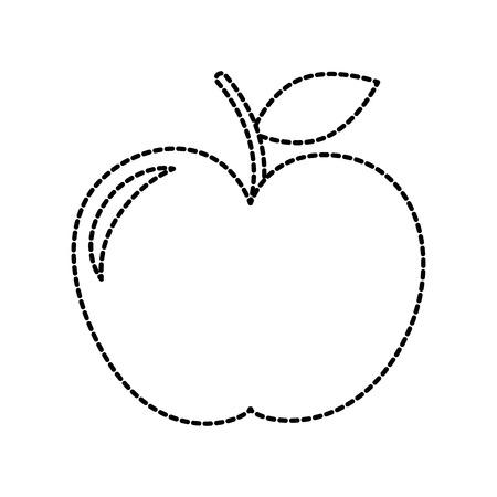 school apple teacher gift celebration symbol vector illustration