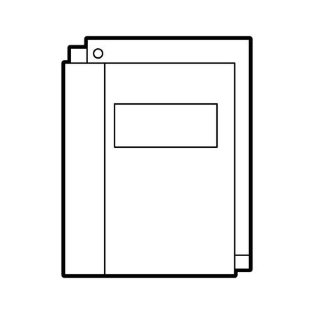 紙文房具供給教育ベクトル イラスト学校フォルダー  イラスト・ベクター素材