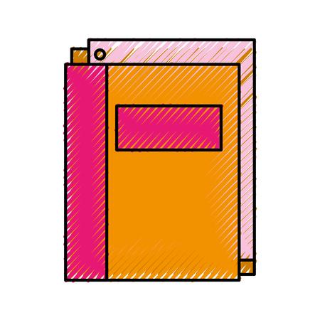 school folder with paper stationery supply education vector illustration Illustration