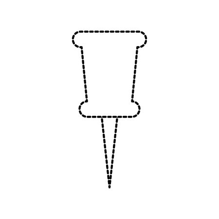 A school push pin thumbtack side view tool vector illustration Ilustração