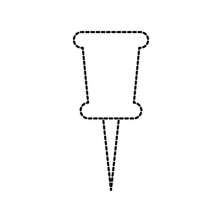 A school push pin thumbtack side view tool vector illustration Illustration