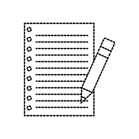 A school paper and pencil utensil study vector illustration