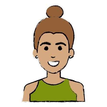 glamorous: A beautiful woman avatar character vector illustration design Illustration