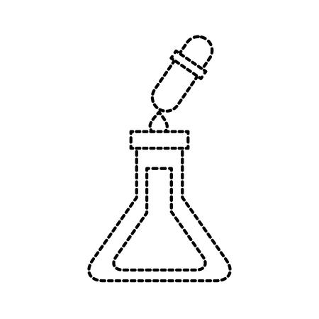 school reageerbuis en druppelaar vloeibare wetenschap vectorillustratie Stock Illustratie