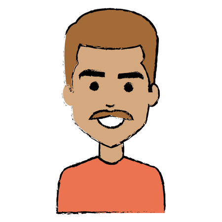 A young man avatar character vector illustration design